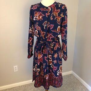 🎀Liz Claiborne navy floral dress